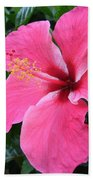 Hot Pink Hibiscus 1 Bath Towel