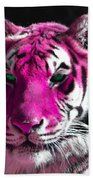 Hot Pink Tiger Bath Towel