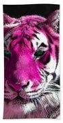 Hot Pink Tiger Bath Towel