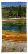 Hot Springs Yellowstone National Park Hand Towel