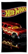 Hot Wheels '55 Chevy Nomad 2 Bath Towel by James Sage