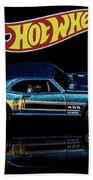Hot Wheels '67 Pontiac Firebird 400-1 Bath Towel by James Sage