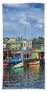 Houseboats - 3 - Lake Union - Seattle Bath Towel