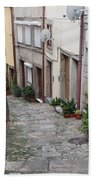 Houses Along Alley In The Old Town Of Porto Bath Towel