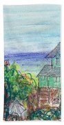 Houses At Whalehead Beach Bath Towel