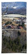 Houses On The Mountains Hand Towel