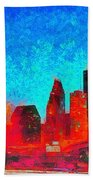 Houston Skyline 131 - Pa Bath Towel