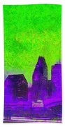 Houston Skyline 43 - Pa Bath Towel