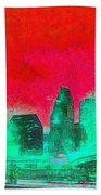 Houston Skyline 47 - Pa Bath Towel