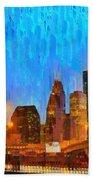 Houston Skyline 80 - Pa Bath Towel
