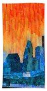Houston Skyline 81 - Pa Bath Towel