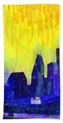 Houston Skyline 83 - Pa Bath Towel