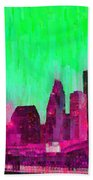 Houston Skyline 86 - Pa Bath Towel