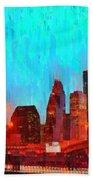 Houston Skyline 87 - Pa Bath Towel