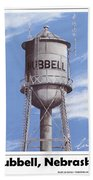 Hubbell Water Tower Poster Bath Towel