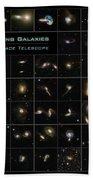Hubble Galaxy Poster Bath Towel