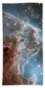 Hubble's 24th Birthday Snap Of Monkey Head Nebula Bath Towel