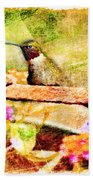 Hummingbird Attitude - Digital Paint 4 Bath Towel