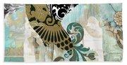 Hummingbird Batik Bath Towel