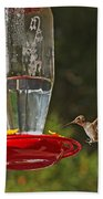 Hummingbird Coming For Dinner Bath Towel