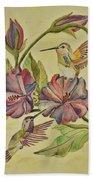 Hummingbirds And Hibiscus Bath Towel