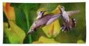 Hummingbirds In Virginia Bath Towel