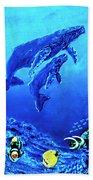 Humpback Whales Hawaii An Reef #14 Bath Towel