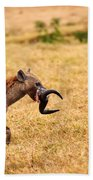 Hungry Hyena Bath Towel