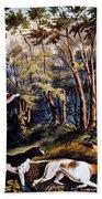 Hunting: Woodcock, 1852 Bath Towel