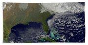 Hurricane Sandy Battering The United Bath Towel