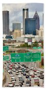 Hustle And Bustle On The Highways And Byways Bath Towel