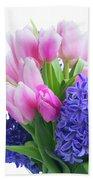 Hyacinths And Tulips  Bath Towel