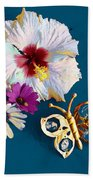 Hybiscus And Butterfly Bath Towel