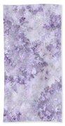 Hydrangea Digital In Lilac Bath Towel