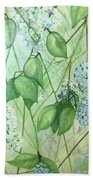 Hydrangea In Green Hand Towel