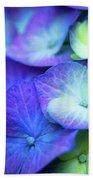 Hydrangea - Purple And Green Bath Towel