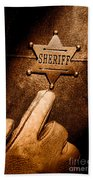 I Am The Law - Sepia Hand Towel