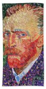 I Heart Van Gogh Portrait Of Vincent Bath Towel