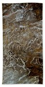 Ice And Rock Abstract Bath Towel