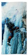 Ice Climb Hand Towel