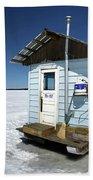 Ice Fishing Shack Bath Towel