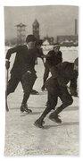 Ice Hockey 1912 Bath Towel