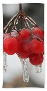 Ice Wrapped Berries Bath Towel