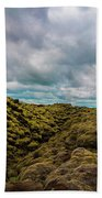 Iceland Moss And Clouds Bath Towel