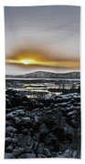 Iceland Sunrise Iceland Lava Field Streams Sunrise Mountains Clouds Iceland 2 2112018 1095.jpg Hand Towel