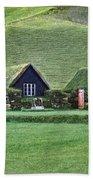 Icelandic Turf Homes Bath Towel