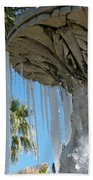 Icicles In A Palm Filled Sky Number 1 Bath Towel