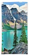 Iconic Banff National Park Attraction Bath Towel