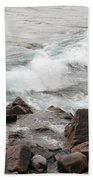 Icy Waves Bath Towel