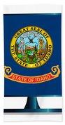 Idaho Flag Tv Bath Towel